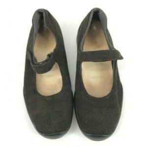 Prada Green Wool Mary Jane Flats Shoes Women